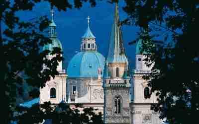 Die Fassade des Salzburger Doms